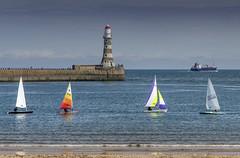 Roker Lighthouse, Sunderland (DM Allan) Tags: sea boats coast northsea dinghy sunderland roker wearside lighthousr sunderlandyachtclub