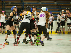 IMG_0610 (clay53012) Tags: ice team track flat arena madison skate roller jam derby league jammer mrd bout flat wftda derby womens track hartmeyer moocon2016