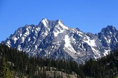 Mt. Stuart and Sherpa Peak (far right) from campsite north of Iron Peak (jlcummins - Washington State) Tags: landscape scenery hike backpack washingtonstate kittitascounty mountstuart sherpapeak