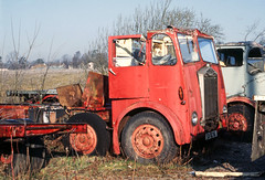 Albion 4-axle lorry SX8716 at Doune Yard .Mar'83 (David Christie 14) Tags: lorry scrapyard albion doune