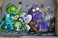 Alien Invasion (RoystonVasey) Tags: street art apple wall newcastle graffiti juice 5 tag sage tyne gateshead jam tyneside ask iphone cheo kopsky onekopsky cheograff