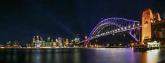 Vivid Sydney in Panorama (satochappy) Tags: city light night cityscape sydney vivid australia nsw colourful harbourbridge sydneyharbour   vividsydney