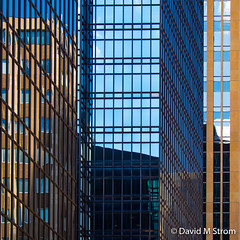 IDS Reflections (David M Strom) Tags: lines pattern skyscraper olympusomdem5 wellsfargobuilding shapes minneapolis abstract architecture minimal colors davidstrom reflections idscenter