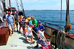 Helping to hoist the sails! (Trinimusic2008 -blessings) Tags: toronto ontario canada nature water bench fun to tallship lakeontario yesterday hbm diversityourstrength trinimusic2008 judymeikle the6ix