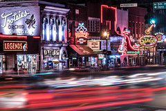 Nashville at Night (lock33photography) Tags: city longexposure travel night photography nikon bars downtown nashville tennessee d750 lighttrails