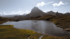 Midi d'Ossau... (...in the woods...) Tags: mountain lake mountains ruta lago lagos lacs peaks montaa pyrenees picos pirineo ayous dayous