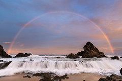 Camel Rock || Bermagui  {Explore 133, 2016/07/18} (David Marriott - Sydney) Tags: wallagalake newsouthwales australia au camel rock wave rainbow sea seascape sand sky water nsw bermagui