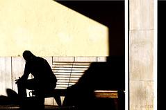Attendendoiltreno (crphoto Castlelli Romani) Tags: stazione ferroviaria ombra persone panchina luce contrasto