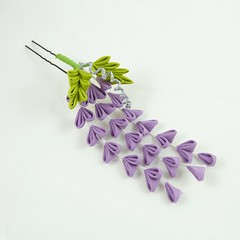 Cotton Fuji (Wisteria Gardens) Tags: flower hair pin brooch silk jewelry maiko hana tsumami kanzashi florral zaiku