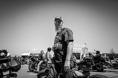 The Biker (Mickael Maurice) Tags: travel portrait people usa nikon noiretblanc free nb harley mc harleydavidson biker hd laconia noirblanc bikeweek etatsunis weirsbeach newhampshirre d7000 cultureharley bikeweeklaconia2014