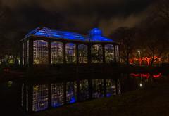 Hortus Botanicus Amsterdam Light festival. (www.mroosfotografie.nl) Tags: blue autumn light red plants art amsterdam festival night clouds photo hortus botanicus 2014 d600 illuminade