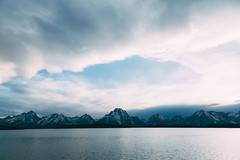 Jackson Lake (kylesipple) Tags: camping lake nature landscape jenny backpacking wyoming grandtetons leigh grandtetonnationalpark jacksonlake poler jennylake leighlake campvibes