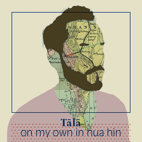 #coversupped for #Tālā's great track On My Own In Hua Hin... I've had that song on repeat for a couple of days, d>😍 it! #illustrator #illustration #roverhoofdman #typography #graphicdesign #graphics