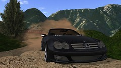 Around The Mountain (alexandriabrangwin) Tags: world road cloud mountains pine race forest computer 3d dangerous graphics driving fast twin convertibl