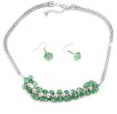 Glimpse of Malibu Green Necklace P2820A-5