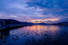 a night at the lake (blatnik_michael) Tags: sunset lake see fuji sonnenuntergang nightshot krnten fujinon strandbad klagenfurt wrthersee pyramidenkogel xe2 xc1650
