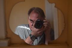Self-Portrait, Laser Cutting Shop (jjldickinson) Tags: camera selfportrait bathroom mirror losangeles metaphotography sanpedro jacobdickinson nikond3300 lasercuttingshop humanarray promaster52mmdigitalhdprotectionfilter 100d3300 nikon1855mmf3556gvriiafsdxnikkor