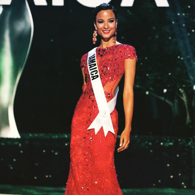 @kacifenfen is just lovely in RED as she wears her Uzuri Design Gown at the Miss Universe Preliminary Competition this week. Uzuri Designs is Jamaican company. #missuniverse #missjamaicauniverse #kacifennell  #jamaica #jamaican #outofmanyonline #outofmany