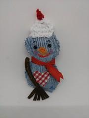 Adorno navideño (dmmalva) Tags: adorno navidad artesanal ornament denim muñecodenieve telavaquera