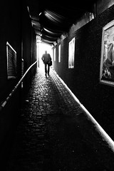light at the end of the tunnel (Sandy...J) Tags: street people urban bw silhouette blackwhite streetphotography sw monochrom