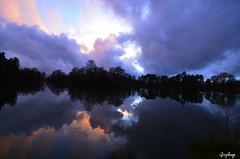 Sunset (iJoydeep) Tags: winter sunset reflection nature norway nikon d7000 joydeepsphotography ijoydeep