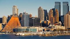 West Midtown Manhattan on the Hudson River, New York City (jag9889) Tags: building architecture skyscraper river pier newjersey construction waterfront unitedstates highrise hudsonriver waterway timewarnercenter weehawken 2014 northriver jag9889 20141115