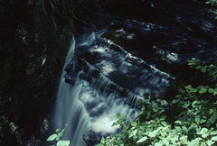Little Clifty Falls, Indiana (Roger Gerbig) Tags: 35mm waterfall indiana slidefilm madison kodachrome64 canoneos3 kr64 135film cliftyfallsstatepark canonef28105f3545 littlecliftyfalls rogergerbig
