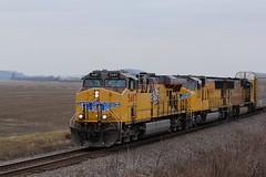Through the Missouri Bootheel.. (Machme92) Tags: life railroad trees sky usa up america farm union rail trains row american missouri rails farms railroads railroading railfanning railfans bootheel unionpacifc