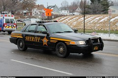 Summit County Sheriff Ford Crown Victoria (Seluryar) Tags: county justin ohio ford police victoria funeral fallen summit crown sheriff procession department officer akron winebrenner