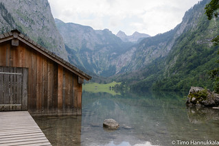 Landscape of Lake Obersee in the Berchtesgaden National Park