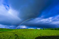 _MG_4202 (Arnar.L.K) Tags: blue summer cloud green iceland rainbow sumar ísland sveitin ský blátt blá regnbogi bústaður grænt græn