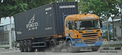 Scania P380 (Waverly Fan) Tags: port truck singapore container gateway trailer psa inter haulage huationg