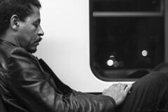 Tornando a casa (fabio.raimo) Tags: travel man home night train work 50mm blackwhite sleep riposo rest treno