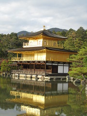 Kinkaku-ji / golden pavilion (Dollfie-Sarah) Tags: travel japan temple golden kyoto buddhist pavilion kinkakuji