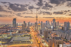 Kuwait - State Of Kuwait Skyline - The Warm Dusk At The City IV (Sarah Al-Sayegh Photography   www.salsayegh.com) Tags: sunset canon landscape iceland cityscape kuwait q8 kuwaittowers landscapephotography   q8city stateofkuwait  leefilters kuwaitskyline  kuwaitcityskyline canoneos5dmarkiii wwwsalsayeghcom  sarahhalsayeghphotography infosalsayeghcom thinklee