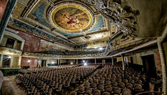 Sleeping Beauty (Frank C. Grace (Trig Photography)) Tags: abandoned theater theatre decay empty massachusetts urbanexploration grime seating crusty orpheum urbex newbedford orpheumcircuit whalingcity trigphotography frankcgrace newbedfordorpheum