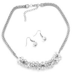 5th Avenue White Necklace P2620A-3