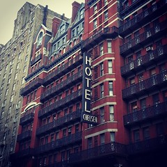 Nevermind the bellhop. #sexpistols #sidvicious #sidandnancy... (monkmpls) Tags: nyc architecture hotel manhattan landmarks sexpistols iheartny sidvicious chelseahotel sidandnancy uploaded:by=flickstagram instagram:photo=70904750180891488843133251