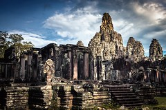 The Pinnacles (Trent's Pics) Tags: temple ruins cambodia faces statues monastery siemreap angkor thebayon sculptures pinnacles basrelief bayon angkorthom khmersmile