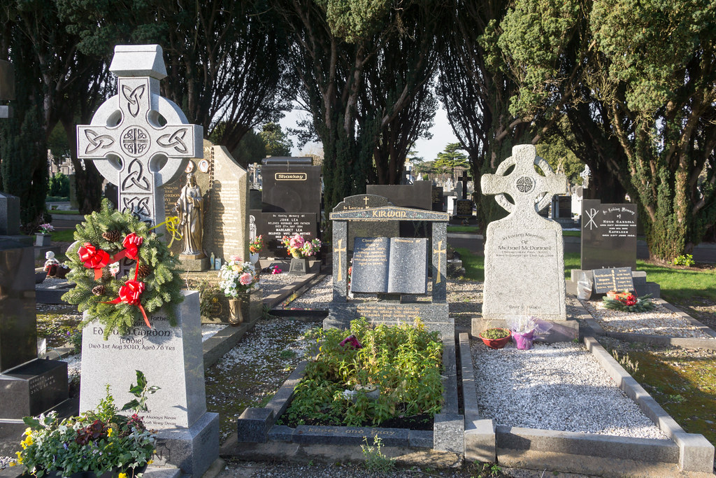 A MORE MODERN SECTION OF GLASNEVIN CEMETERY WHERE SOME ARE BURIED IN STYLE REF-101221