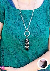 5th Avenue Black Necklace K1 P2110-2