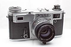 camera lens stacked kiev4 helios103 combinezp