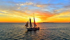 Sailing through a glorious sunset in USA, FL, Key West (paul.trottier) Tags: sky west colour art beautiful sailboat photo nikon key colours arty artistic florida creative fl colourful nikkor 28300mm d610 onlythebestofflickr paultrottier