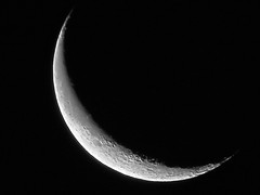 Waning Crescent Moon - January 17, 2015 (spacemike) Tags: sky moon mare charlotte space northcarolina luna craters crater astrophotography astronomy nightsky charlottenc lunar crescentmoon charlottenorthcarolina astromike waningmoon waningcrescentmoon spacemike