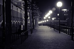 Late night stroll (technodean2000) Tags: uk england white black night bristol temple mono nikon late stroll lightroom meads d5300 18140mm