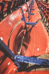 Some Fenway Fun in the Rain (Jonmikel & Kat-YSNP) Tags: blue red rain boston night baseball seat redsox seats 16 fenway raining fenwaypark select nightgame wetseat