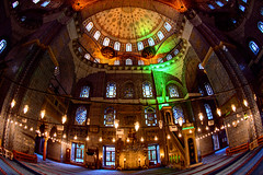 Yeni Cami (New Mosque), Eminonu - Istanbul (Aleem Yousaf) Tags: new building turkey photo nikon walk istanbul mosque fisheye historical cami 16mm yeni d800 eminonu