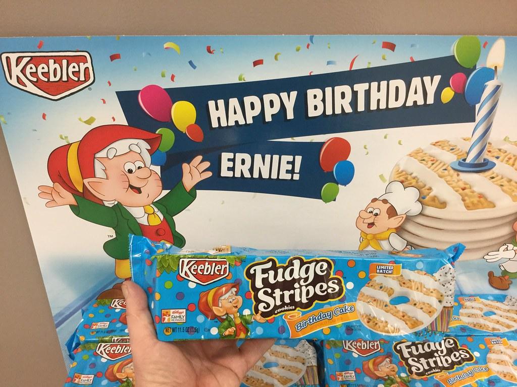 Keebler Fudge Stripe Happy Birthday Ernie Cookies 5 2016 At Target By