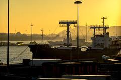 Dawn at the harbor of Cagliari (_ Nemo _) Tags: sardegna winter sardinia seascapes inverno cagliari 201516