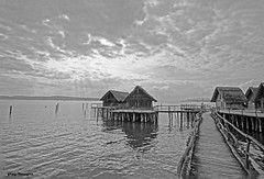 lake dwellings during the bronze and stone age (greg luengen) Tags: life lake man black museum ancient schwarzweiss prehistoric constance